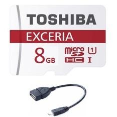 Thẻ nhớ Micro SDHC Toshiba 8G và tặng Cáp OTG