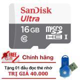 Mua Thẻ Nhớ Micro Sdhc Ultra Sandisk 16Gb Class 10 48Mb S Hangphanphối Chinh Thức Tặng Đầu Đọc Thẻ Nhớ Micro Pt Trực Tuyến Vietnam