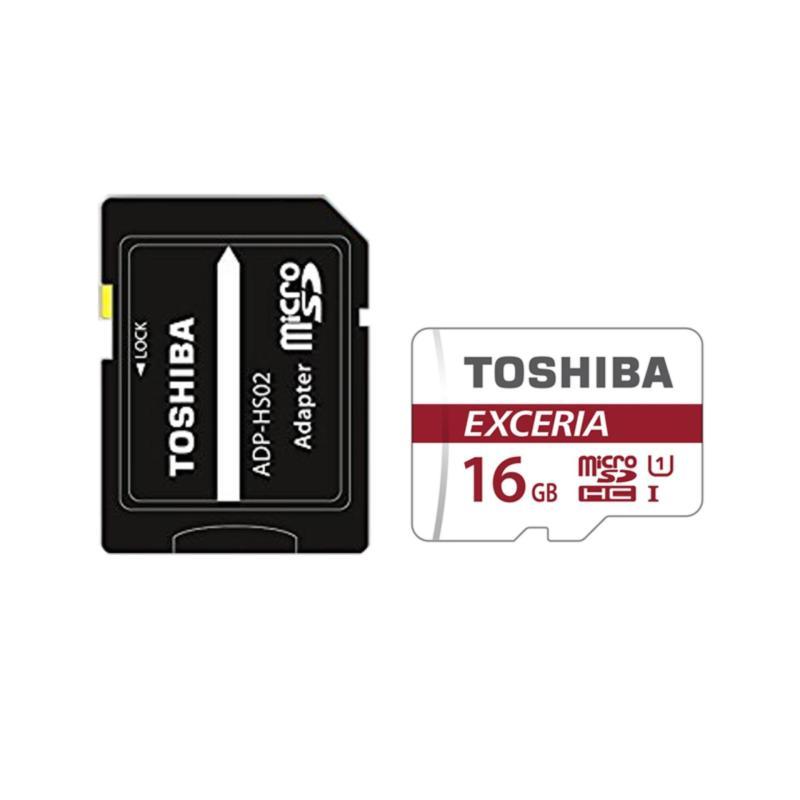 Thẻ nhớ MicroSD 16GB UHS-I 90MB/s 4K + SD Adapter Toshiba Exceria M302 #THN-M302R0160A2
