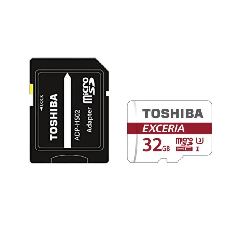 Thẻ nhớ MicroSD 32GB UHS-I U3 R/W 90/30MB/s 4K + SD Adapter Toshiba Exceria M302 #THN-M302R0320A2