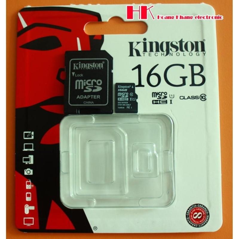 Thẻ nhớ MicroSD Kington 16G PHÂN PHỐI CHÍNH THỨC  (tặng đầu đọc thẻ)