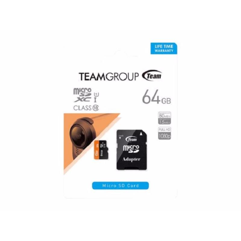 Thẻ nhớ MicroSD Team Class 10 64Gb tặng kèm Adapter