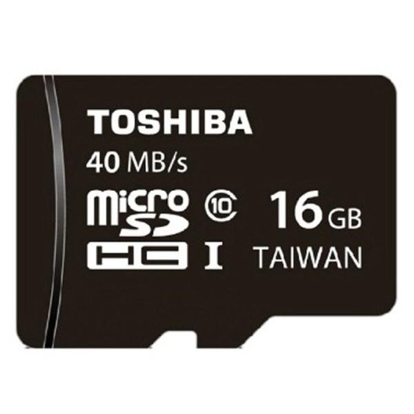 Thẻ nhớ MicroSD Toshiba 40MB/s Class 10 16GB (Đen)