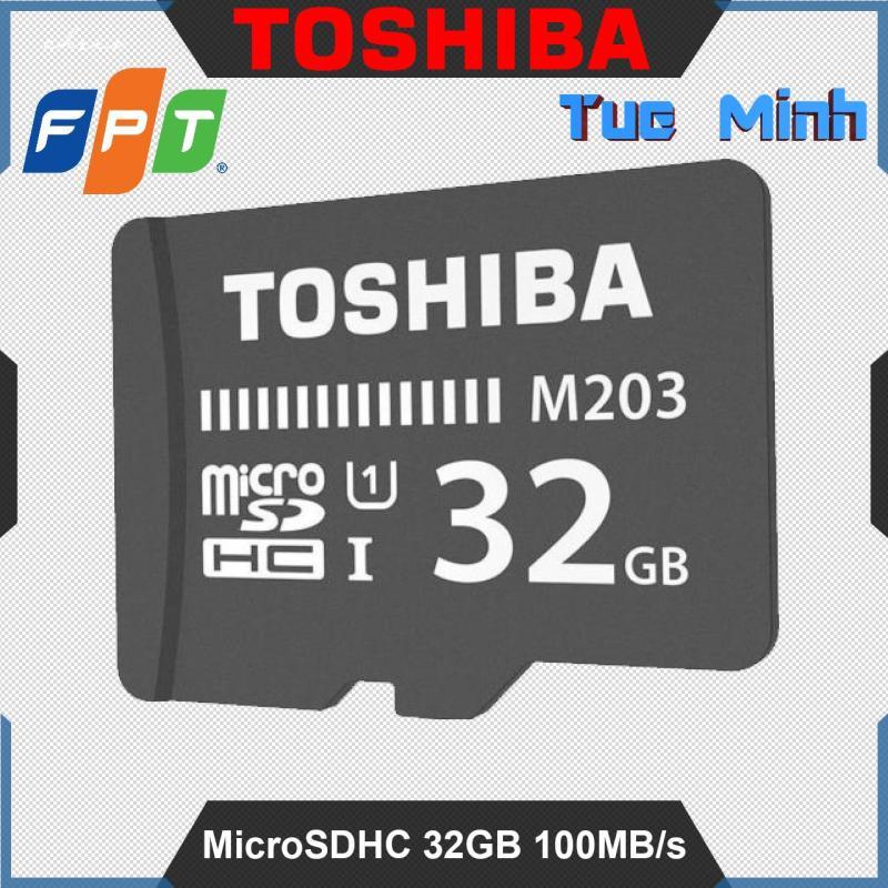 Thẻ nhớ MicroSDHC 32GB Class 10 UHS-I 100MB/s Toshiba hàng chính hãng do FPT phân phối