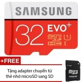 Ôn Tập Thẻ Nhớ Microsdhc Samsung Evo Plus 32Gb 80Mb S Đỏ Tặng 1 Adapter Chuyển Từ Thẻ Nhớ Microsd Sang Sd Trong Hồ Chí Minh