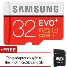 Bán Thẻ Nhớ Microsdhc Samsung Evo Plus 32Gb 80Mb S Đỏ Tặng 1 Adapter Chuyển Từ Thẻ Nhớ Microsd Sang Sd Samsung Nguyên