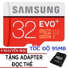 Ôn Tập Thẻ Nhớ Microsdhc Samsung Evo Plus 32Gb Tốc Độ 95Mb S Tặng Adapter Đọc Thẻ
