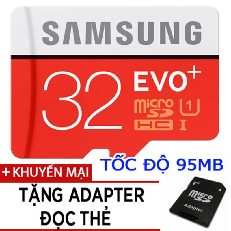 Thẻ nhớ MicroSDHC Samsung EVO Plus 32GB tốc độ 95MB/s tặng adapter đọc thẻ