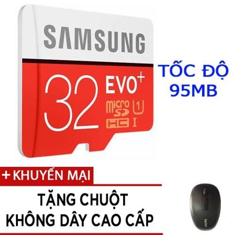 Thẻ nhớ MicroSDHC Samsung EVO Plus 32GB tốc độ 95MB/s tặng chuột không dây