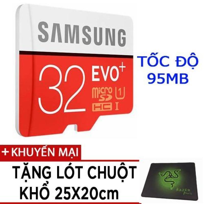 Thẻ nhớ MicroSDHC Samsung EVO Plus 32GB tốc độ 95MB/s tặng lót chuột