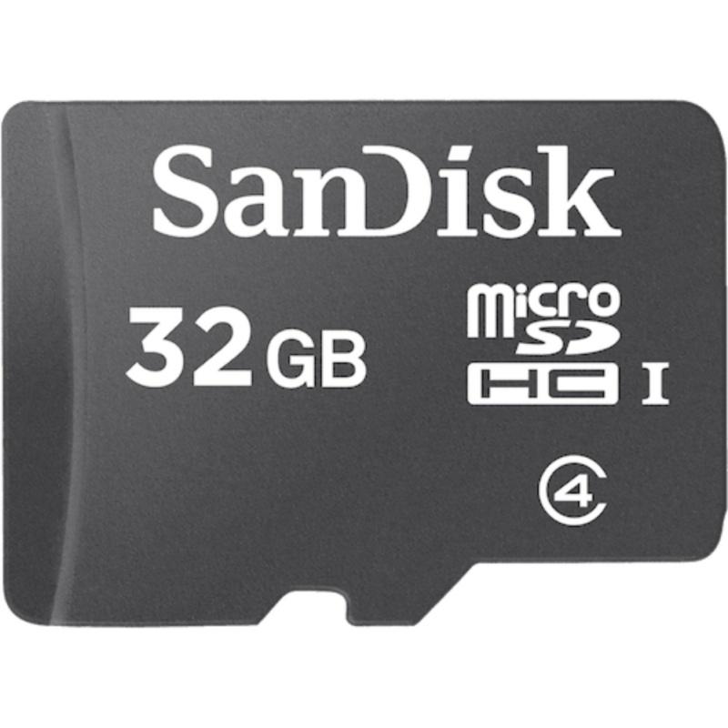 Thẻ nhớ MicroSDHC Sandisk 32GB Class 4 + Tặng 01 đầu đọc thẻ all-in-one 1000000626+1000000513