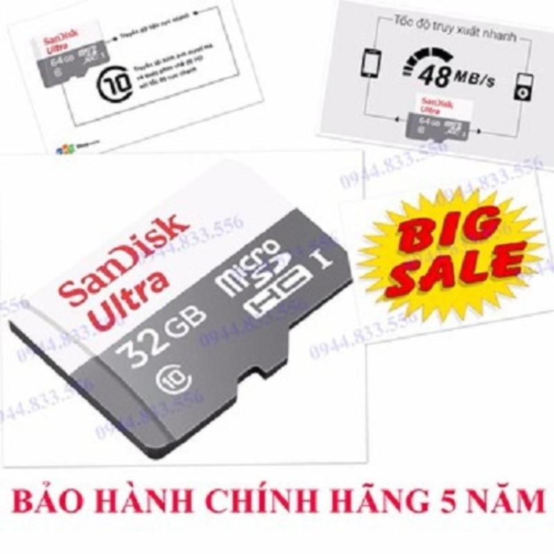 Thẻ nhớ MicroSDHC SanDisk Ultra 32GB 80MB/s (Xám)