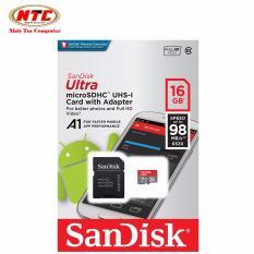 Mua Thẻ Nhớ Microsdhc Sandisk Ultra A1 16Gb Class 10 U1 98Mb S Kem Adapter Model 2017 Xam Đỏ Hồ Chí Minh