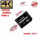 Ôn Tập Thẻ Nhớ Microsdhc Toshiba Exceria Uhs I U3 32Gb 90Mb S Kem Adapter Model 2017 Đỏ Toshiba