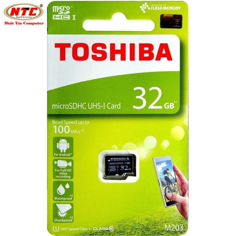 Thẻ nhớ MicroSDHC Toshiba M203 UHS-I U1 32GB 100MB/s - chuyên dành cho camera (Đen)
