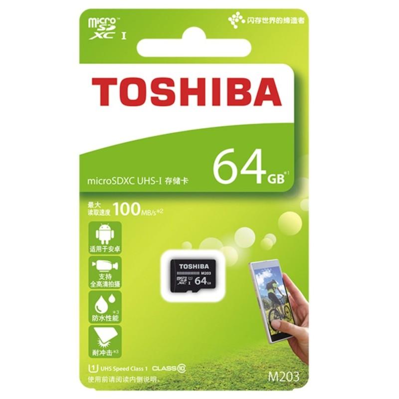 Thẻ nhớ MicroSDXC Toshiba M203 UHS-I U1 64GB 100MB/s - chuyên camera và điện thoại (Đen)