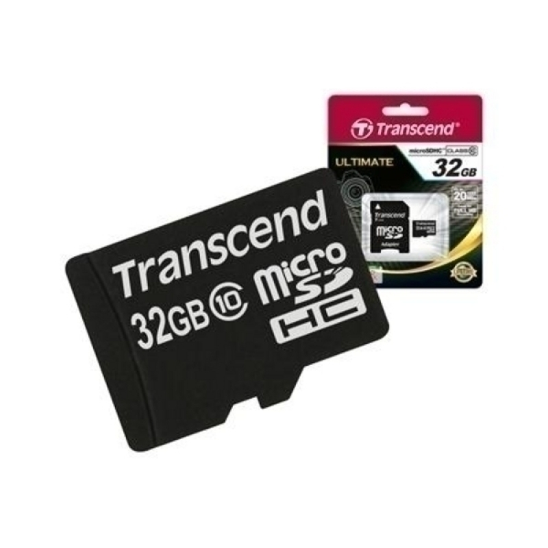 Thẻ nhớ MicroSDHC Transcend Class 10 32GB (Đen)