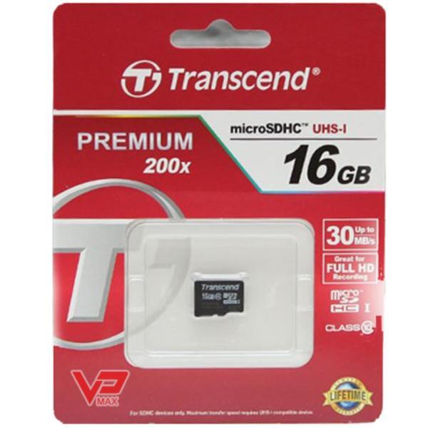 Thẻ Nhớ Micro SD 16Gb Transcend Premium 16GB chuyên dùng cho camera hành trình