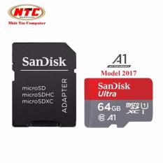 Ôn Tập Trên Thẻ Nhớ Microsdxc Sandisk Ultra A1 64Gb Class 10 U1 100Mb S Kem Adapter Model 2017 Xam Đỏ