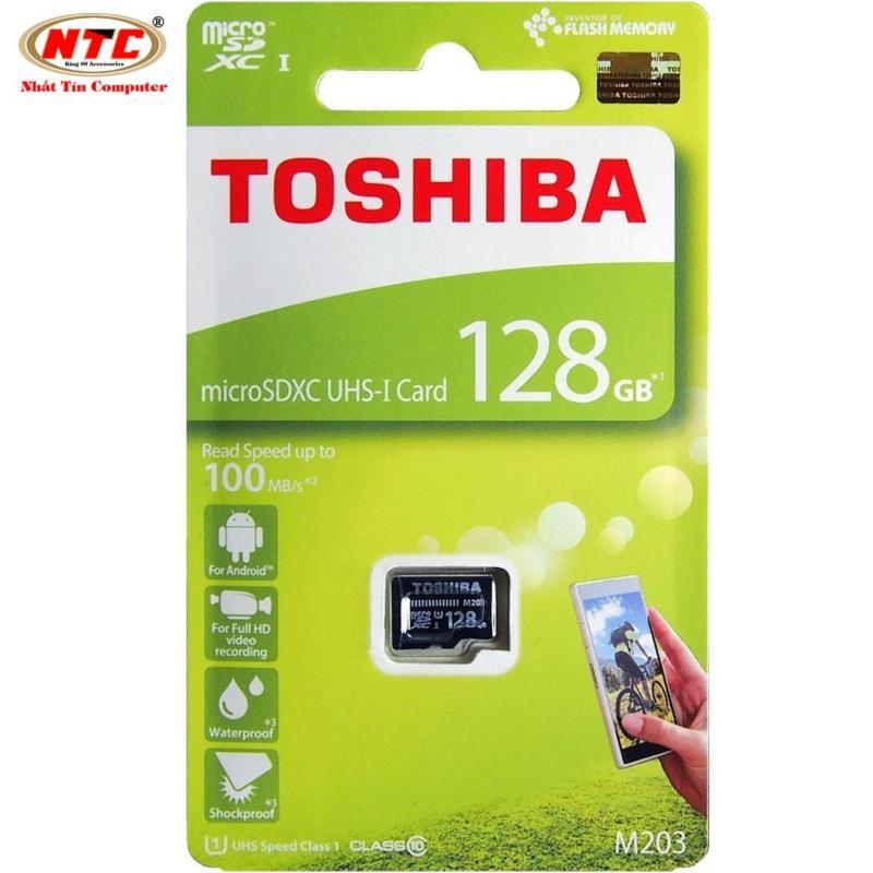 Thẻ nhớ MicroSDXC Toshiba M203 UHS-I U1 128GB 100MB/s - chuyên camera và điện thoại (Đen)