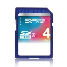 Chiết Khấu Thẻ Nhớ Sdhc Silicon Power Sdhc Class 4 4Gb Xanh Dương Silicon Power