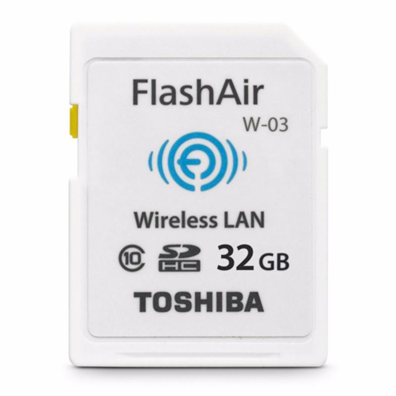 Thẻ nhớ SDHC Toshiba Wi-Fi Flashair 32GB (Trắng)