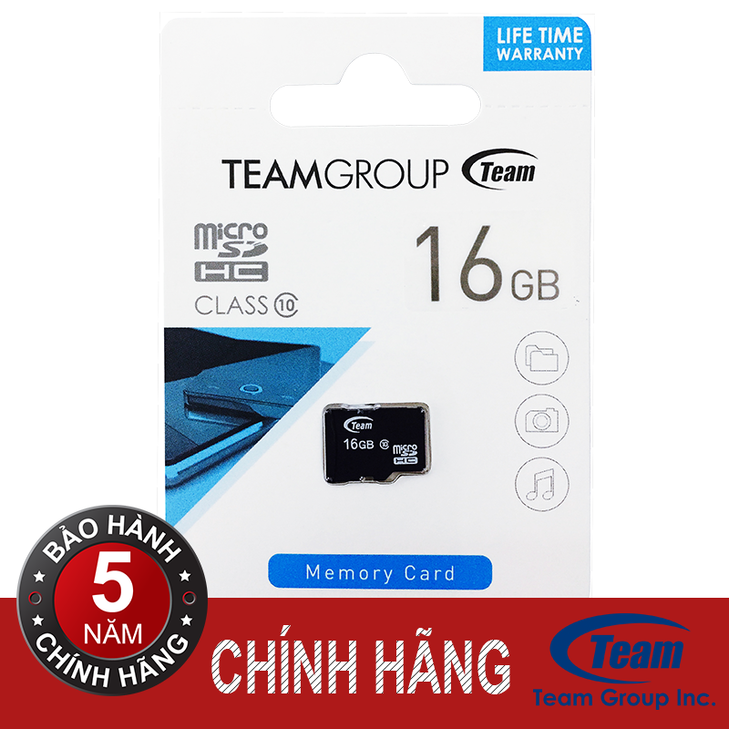 Thẻ nhớ Team MicroSDHC Class 10 16GB (Đen)