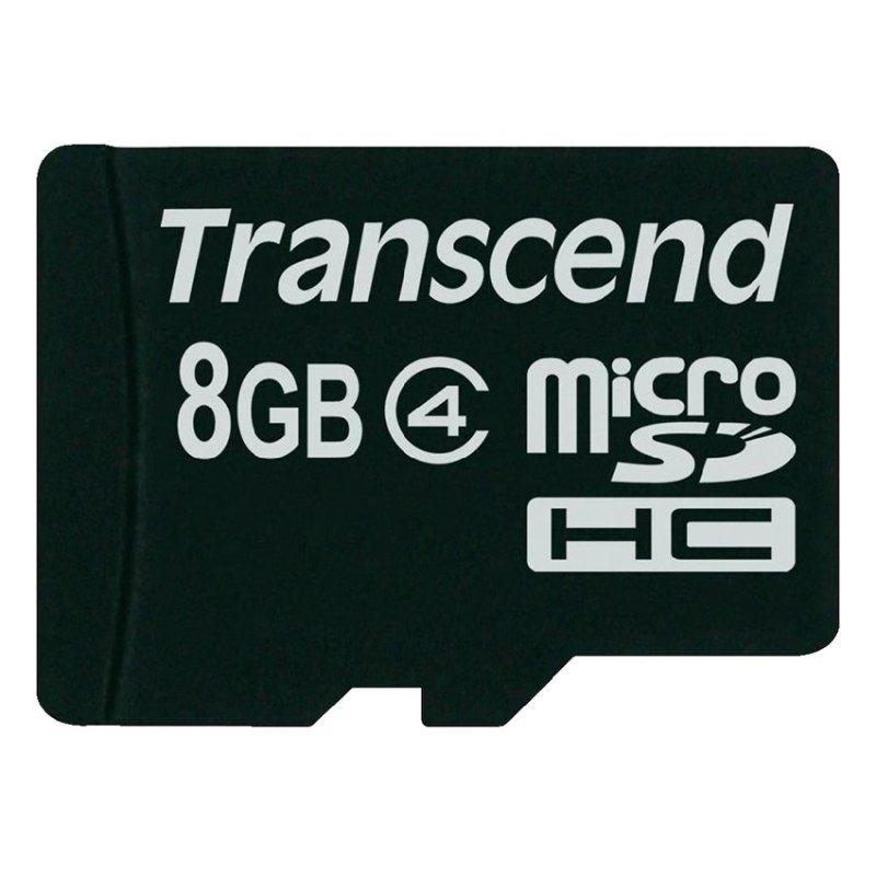 Thẻ nhớ Transcend 8GB TS8GUSDC4 Micro SDHC (Đen)