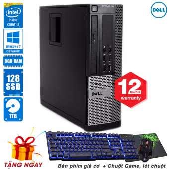 Thùng máy tính Dell OptiPlex 790 SFF Core i5 2500, Ram 8GB, SSD 128GB, HDD 1TB (Tặng phím giả cơ, chuột Game, lót chuột) - Hàng Nhập Khẩu