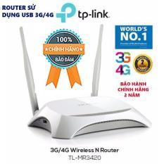 Hình ảnh TL-MR3420 - Router WIFI sử dụng USB 3G/4G, chuẩn N 300Mbps - Hãng TP-Link bảo hành 24 tháng