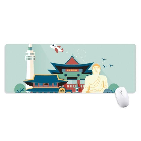 Tham Quan Các Điểm Du Lịch Tại Seoul Hàn Quốc Chống Trơn Trượt Mousepad Lớn Mở Rộng Trò Chơi Văn Phòng Titched Cạnh Máy Tính Thảm Quà Tặng-Intl