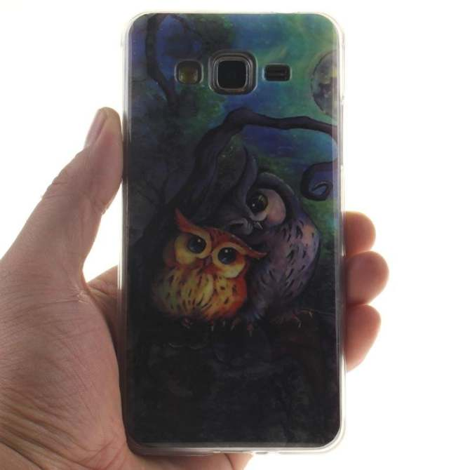 TPU Flexible Soft Case for Samsung Galaxy Grand Prime G5308/G530H (Owl) -