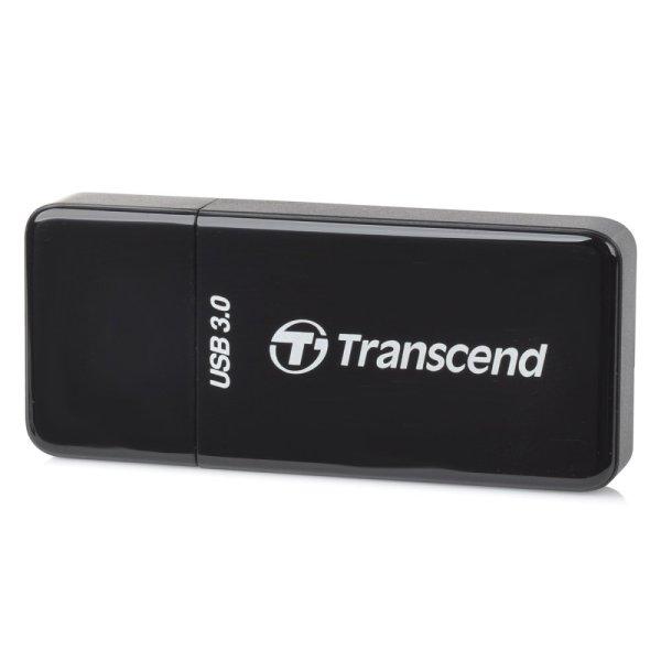 Transcend RDF5 Tốc Độ Cao USB 3.0 TF/SD Đầu Đọc Thẻ 2 trong 1 HỖ TRỢ UHS-I Flash Card -màu đen (128 gb) -quốc tế
