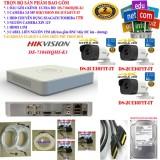 Bán Trọn Bộ 1 Đầu Ghi Hinh Camera 4 Kenh Ultra Hd Cao Cấp Hikvision Ds 7104Hqhi K1 3 Camera Ultra Hd Ds 2Ce16F1T It 1 Ổ Cứng Chuyen Dụng Seagate Skyhawk Toshiba 1000Gb 3 Nguồn Nhện Xịn 12V 1 Hdmi 3 Sợi Cap Liền Nguồn 15M Bấm Sẵn 4 Đầu Rẻ Nhất