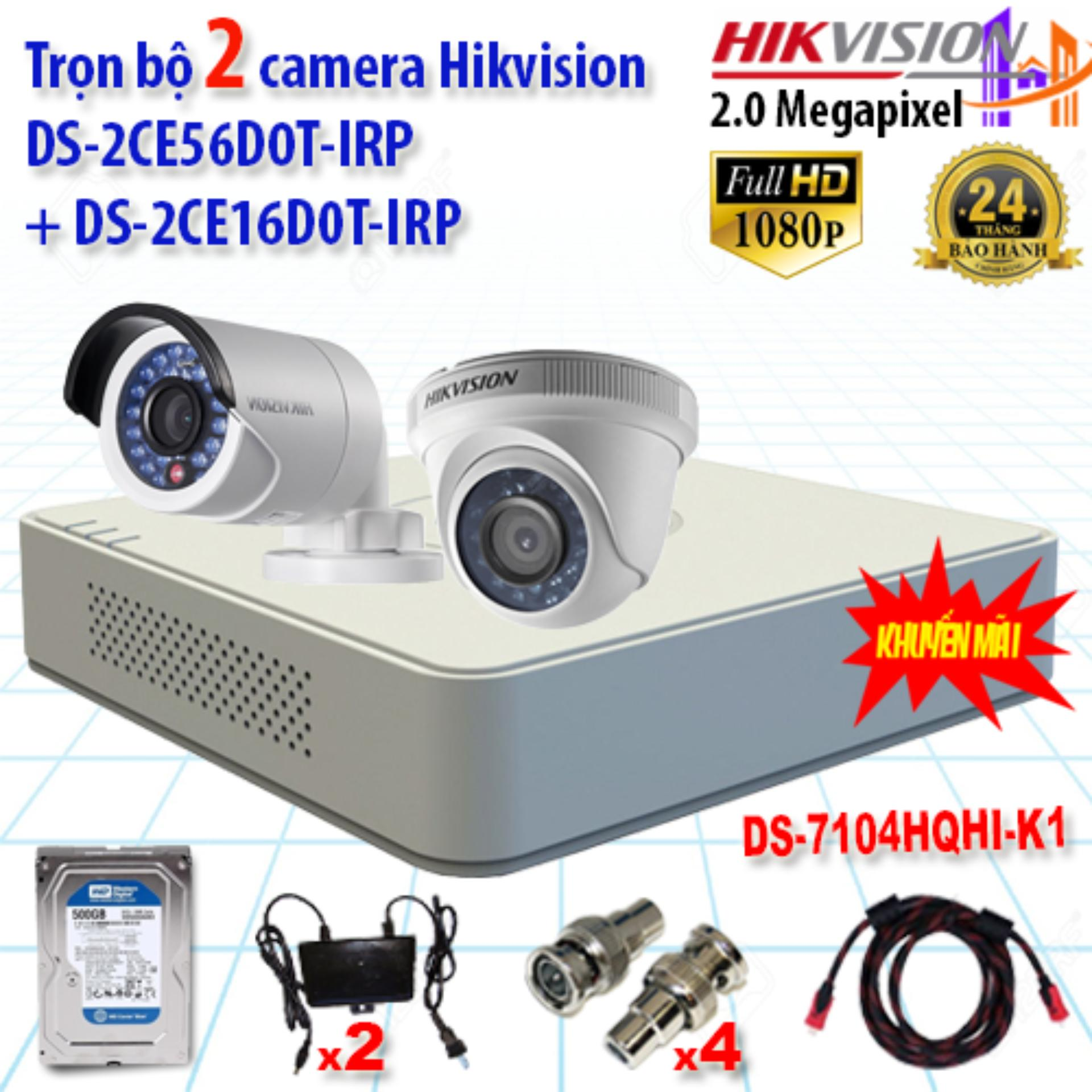 Trọn Bộ 2 Camera 2.0Mp Ds-2Ce56D0T-Irp