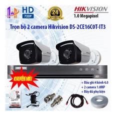 Bán Trọn Bộ 2 Camera Hikvision Ds 2Ce16C0T It3 Va Ds 7204Hqhi K1 Hikvision Nguyên