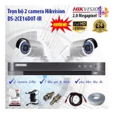 Trọn bộ 2 camera Hikvision DS-2CE16D0T-IR và DS-7204HQHI-K1
