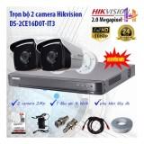 Bán Trọn Bộ 2 Camera Hikvision Ds 2Ce16D0T It3 Va Ds 7204Huhi K1 Mới