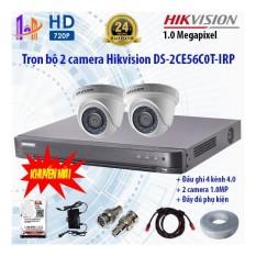 Giá Bán Trọn Bộ 2 Camera Hikvision Ds 2Ce56C0T Irp Va Ds 7204Huhi K1 Mới