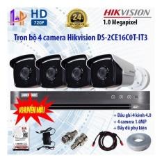 Giá Bán Trọn Bộ 4 Camera Hikvision Ds 2Ce16C0T It3 Va Ds 7204Hqhi K1 Hikvision Nguyên