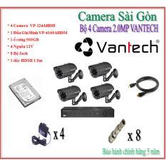 Chiết Khấu Trọn Bộ 4 Camera Vamtech 2 0Mp Vp 124Ahdh Có Thương Hiệu