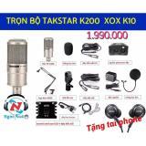 Chiết Khấu Trọn Bộ Mic Live Stream Takstar Pc K200 Sound Card Xox K10 Full Phụ Kiện Có Thương Hiệu