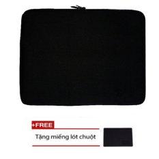 Túi Chống Sốc cao cấp Cho Laptop 15.6 Inch (đen) + Tặng Bàn Di Chuột  thế hệ mới (đen) Nhật Bản