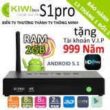 Mua Tv Box Kiwi S1 Pro 4K 2Gb Ram 2018 Tặng Tk Vip 999 Năm Rẻ