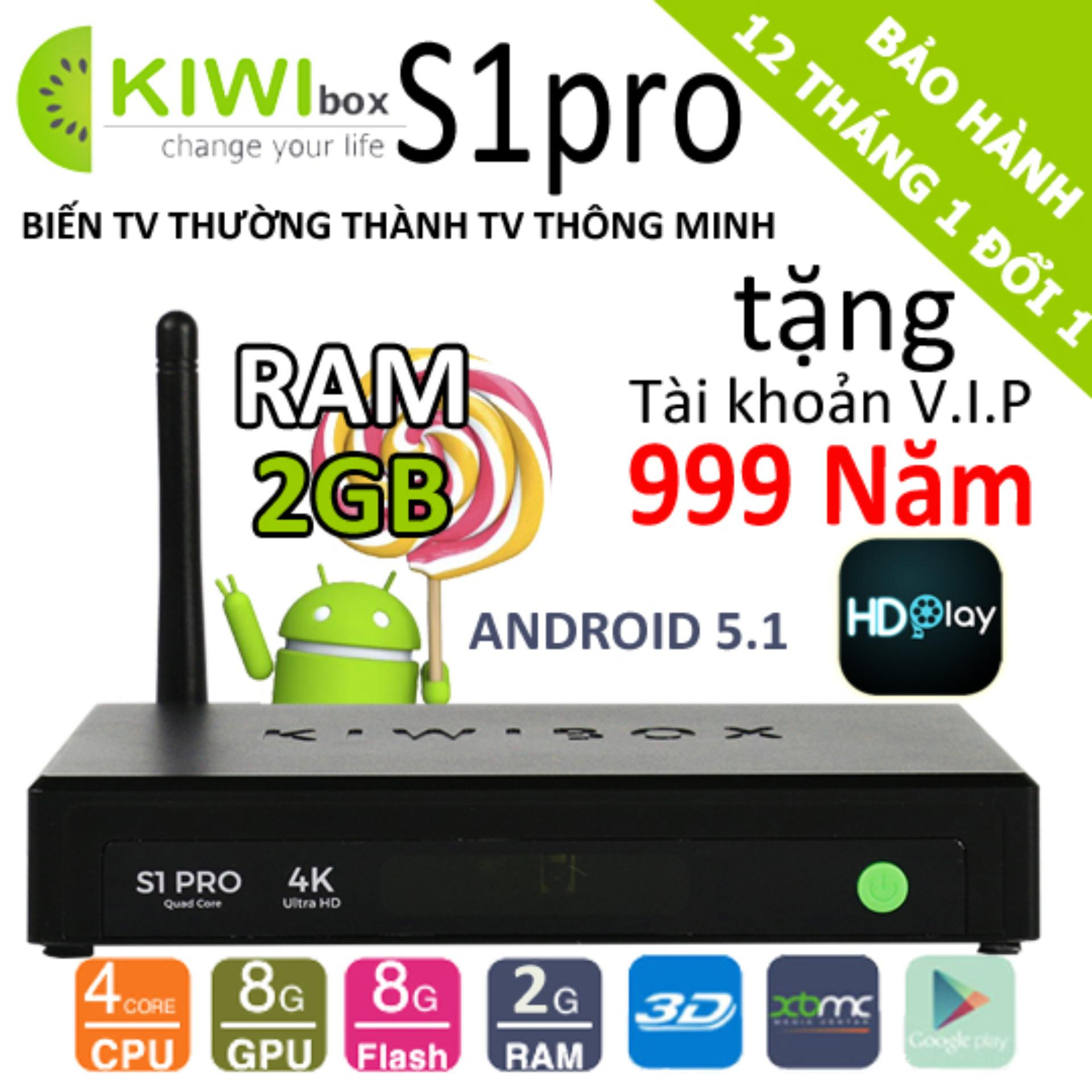 Tv Box Kiwi S1 Pro 4K 2Gb Ram 2018
