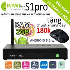 Hình ảnh Tv box KIWI S1 PRO RAM 2GB 4K/Android 6.0 - Tặng chuột 180k
