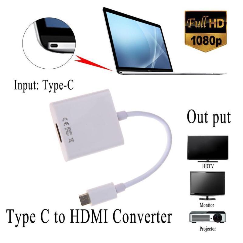 Bảng giá Cáp Adapter Loại C USB 3.1 Đầu Đực Chuyển HDMI Đầu Cái 1080P Dành Cho Macbook Chromboo - quốc tế Phong Vũ