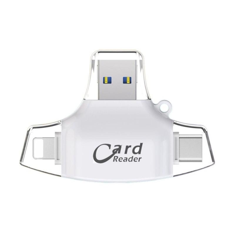 Bảng giá UINN 4 trong 1 Điện Thoại Di Động Đầu Đọc Thẻ USB Loại C Cổng Kết Nối OTG HUB Adapter TF-quốc tế Phong Vũ