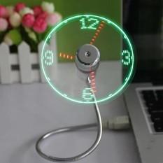 Hình ảnh UINN Mini Linh Hoạt Cổ Ngỗng Đồng Hồ LED USB Quạt Cho MÁY TÍNH Xách Tay Màn Hình Hiển Thị Thời Gian-quốc tế