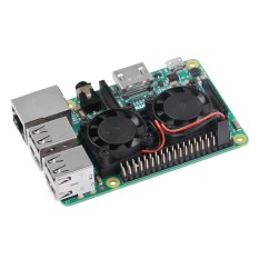 Ultimate Dual Cooling Fan Kit Module for Raspberry Pi 3B, 2B (No Pi) - intl